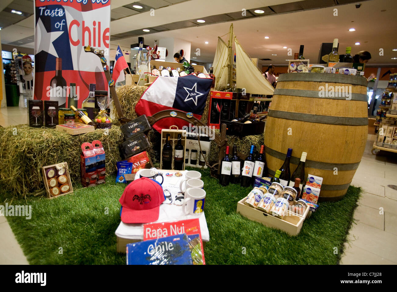 Products of Chile for sale at the airoport - Stock Image