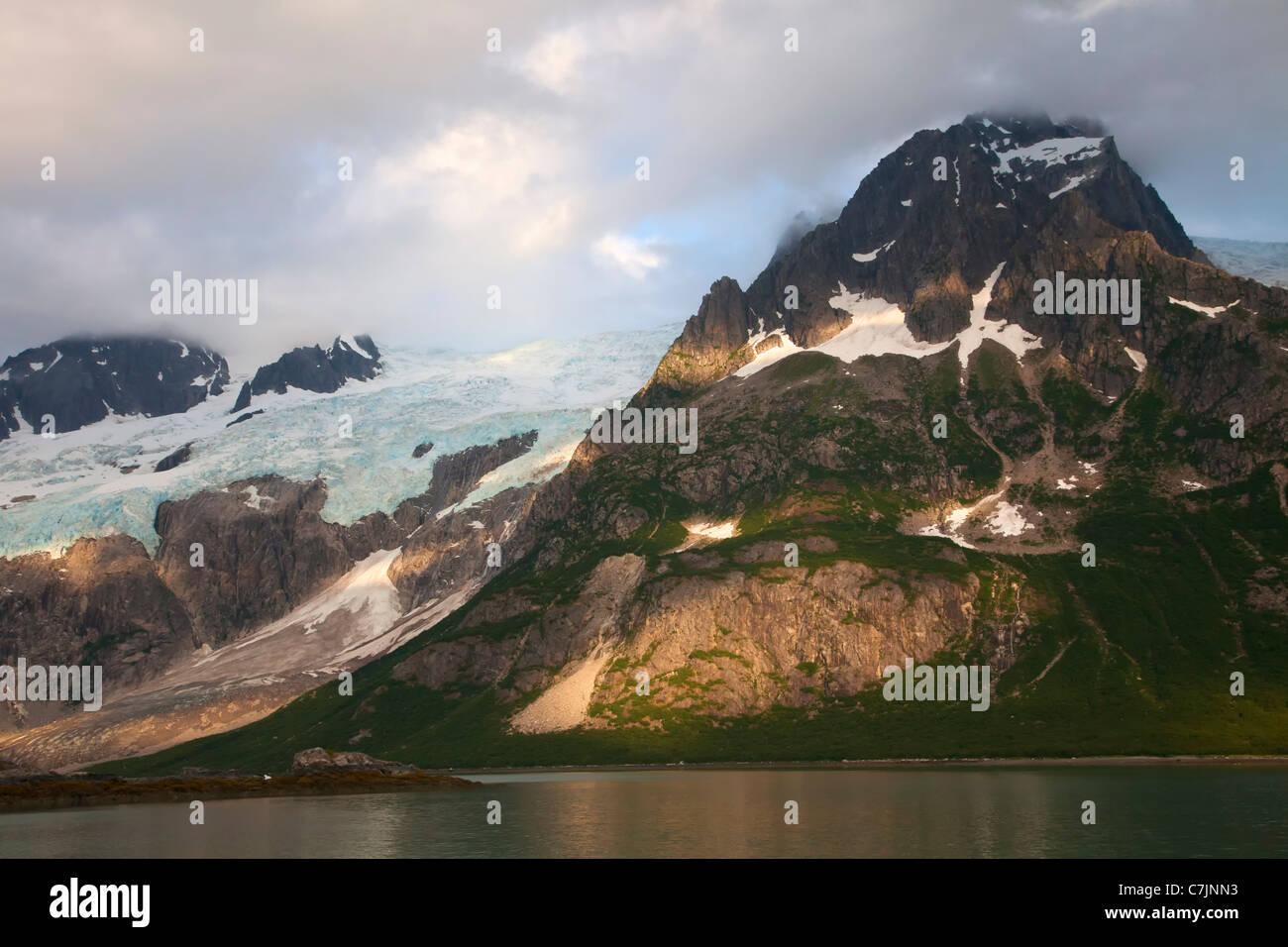 Sunset Northwestern Fjord, Kenai Fjords National Park, near Seward, Alaska. - Stock Image
