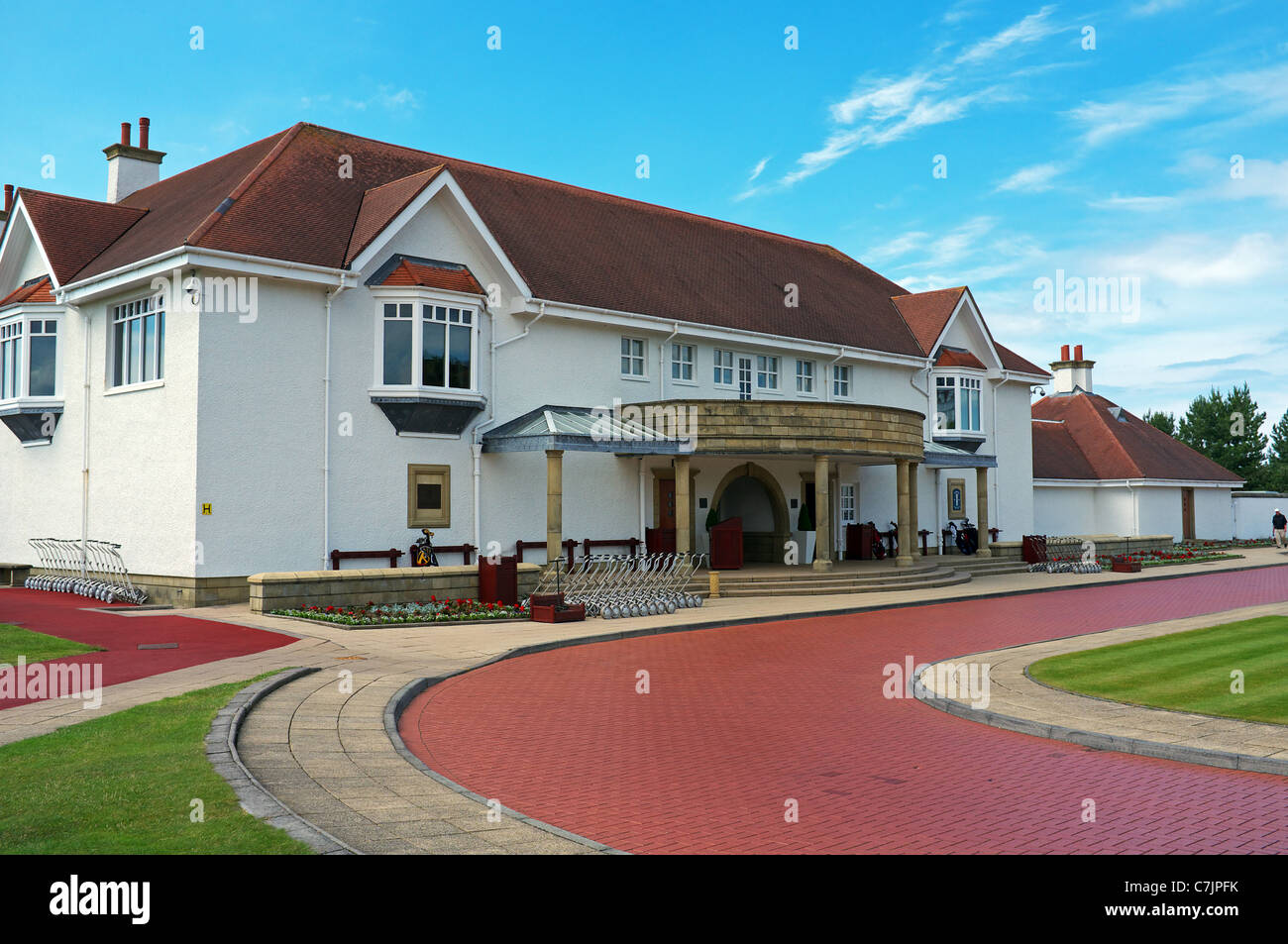 Clubhouse of Trump Turnberry Golf Club, Trump Turnberry, Ayrshire, Scotland, UK, Great Britain - Stock Image