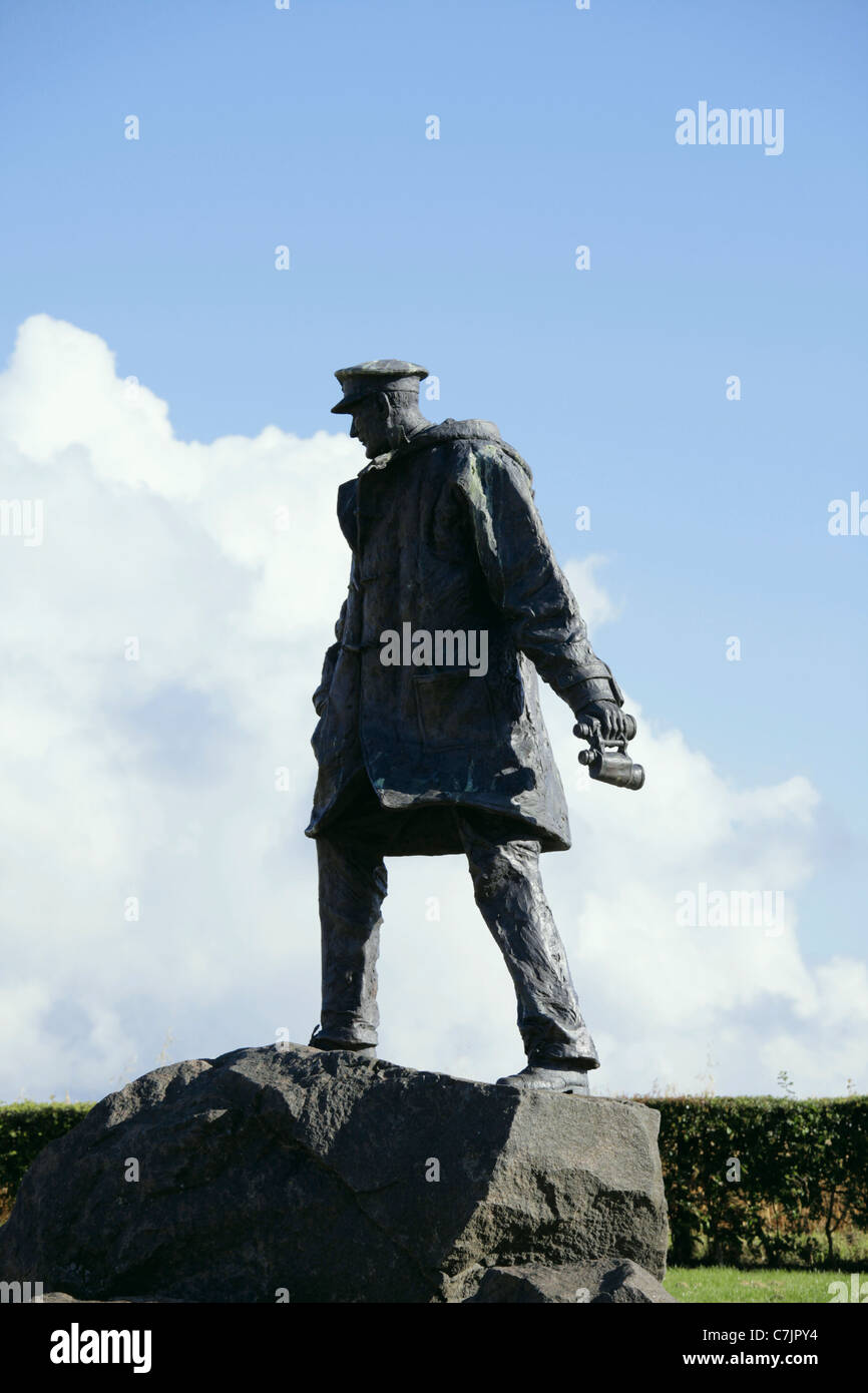 Memorial to Lieutenant Colonel Sir David Stirling founder of the SAS Doune Perthshire - Stock Image