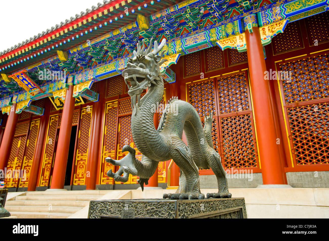 Hall of benevolence and longevity Peking beijing Summer Palace Gardens of Nurtured Harmony peaceful retreat largest - Stock Image