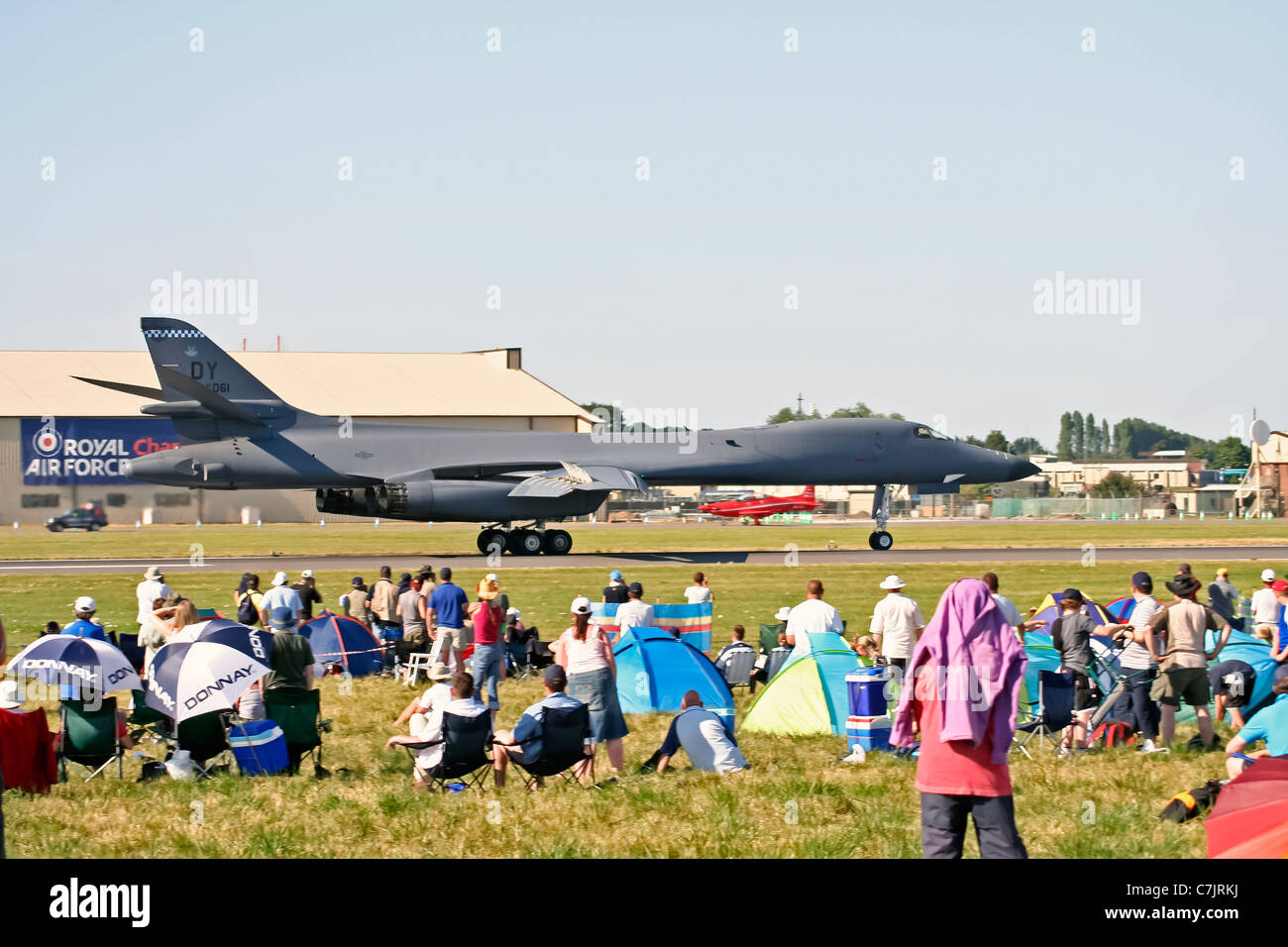 Rockwell B-1 Lancer supersonic bomber on display Royal International Air Tattoo - Stock Image