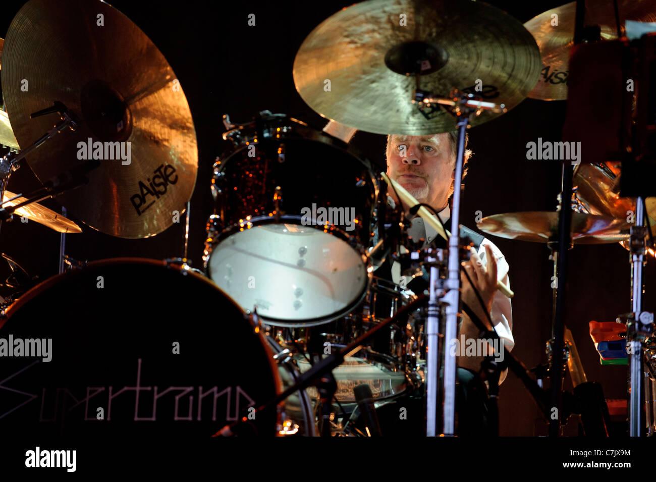 Legendary British rock band Supertramp performs live at Molson Amphitheatre, Toronto, Canada on June 12, 2011 - Stock Image