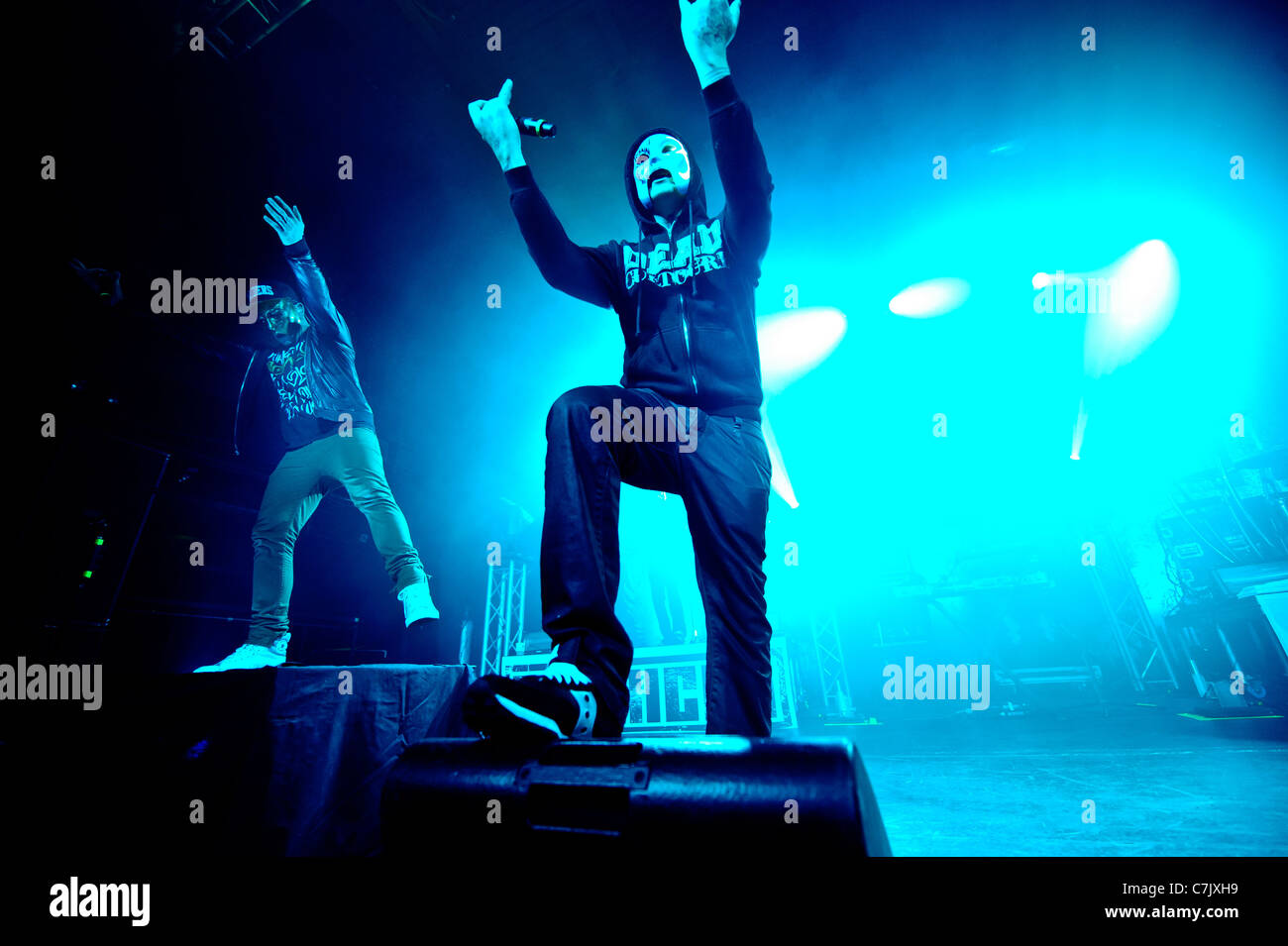 American rap rock band Hollywood Undead live at Sound Academy, Toronto, Canada on April 03, 2011 Stock Photo