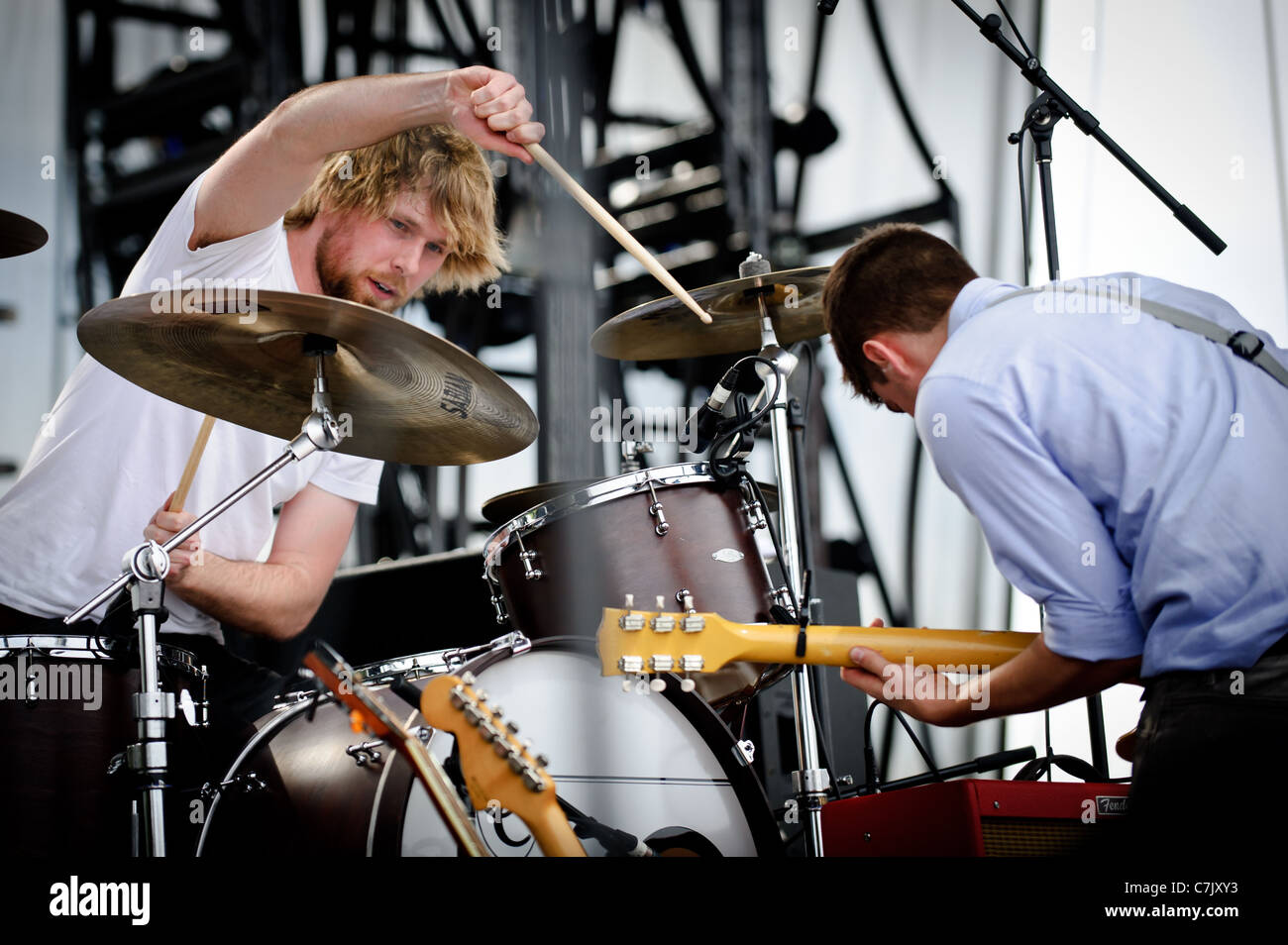Hey Rosetta! Canadian indie rock band performs at Downsview Park on Canada Day, July 01, 2011 Stock Photo