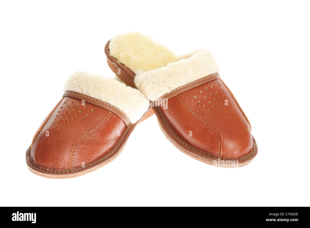 e9f0963c3bd brown wool comfortable slippers - house slipper isolated on white background