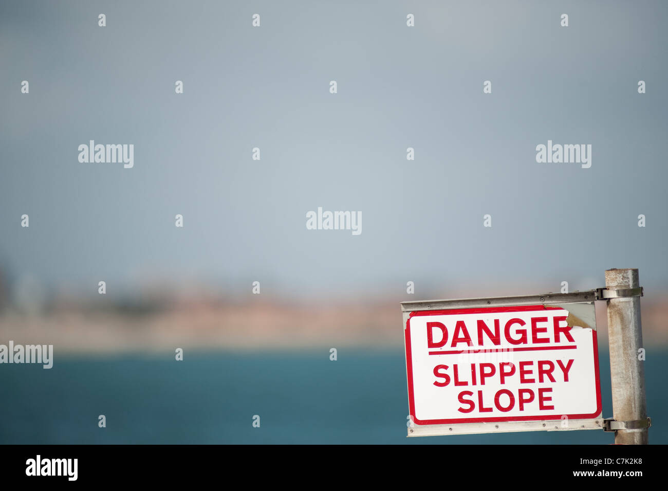 Slippery Slope - Stock Image