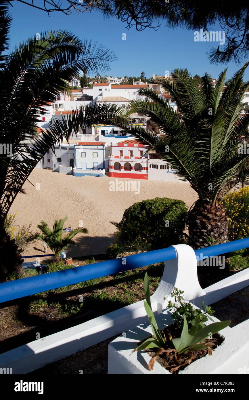 Portugal, Algarve, Carvoeiro, View of Town Stock Photo