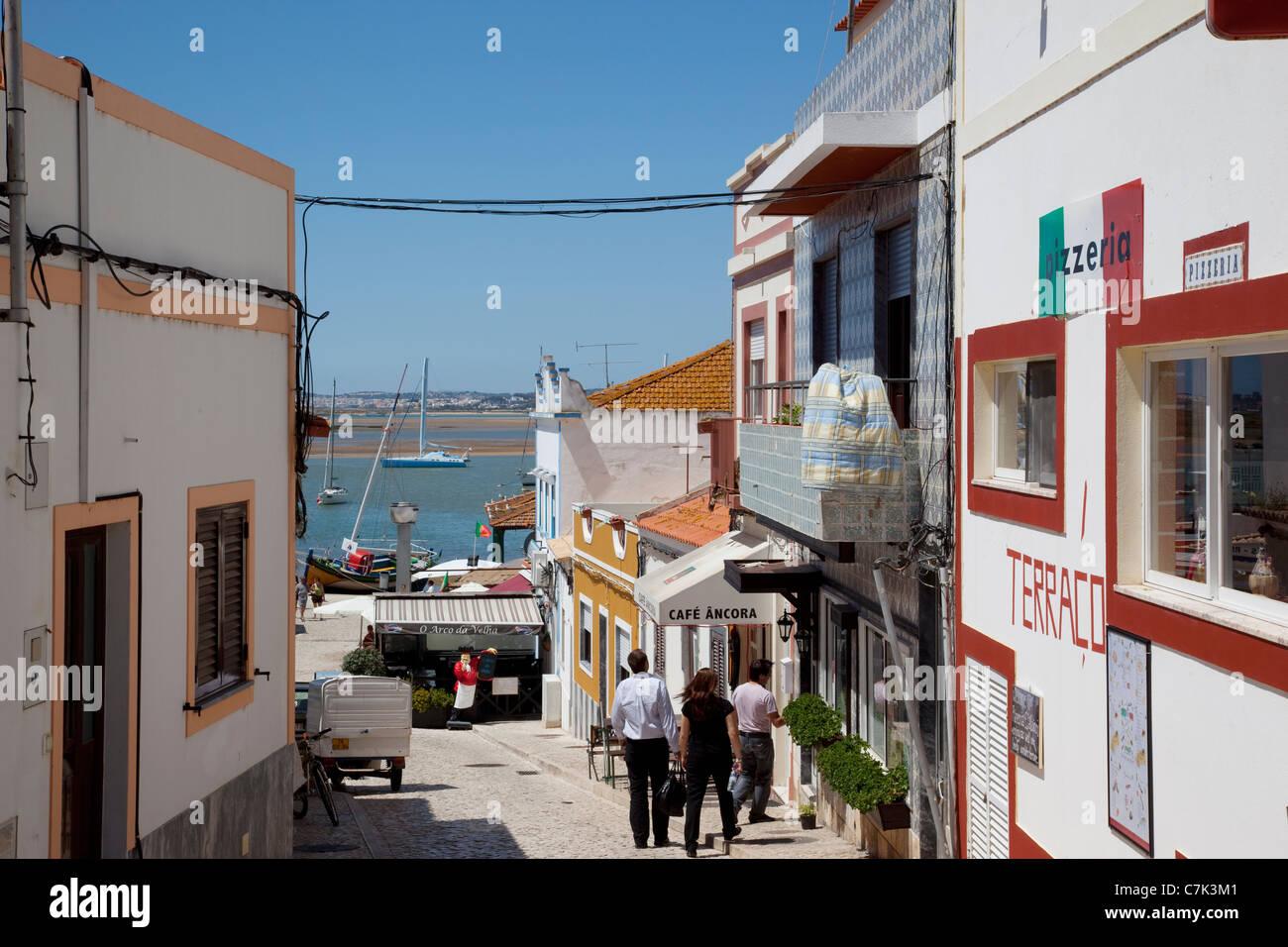 Portugal, Algarve, Alvor, Street Scene Stock Photo