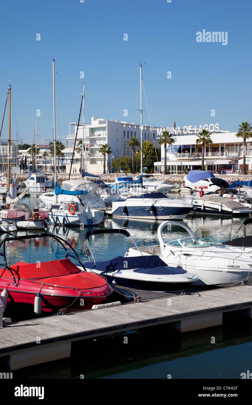 Portugal, Algarve, Lagos, Marina, Yachts Stock Photo