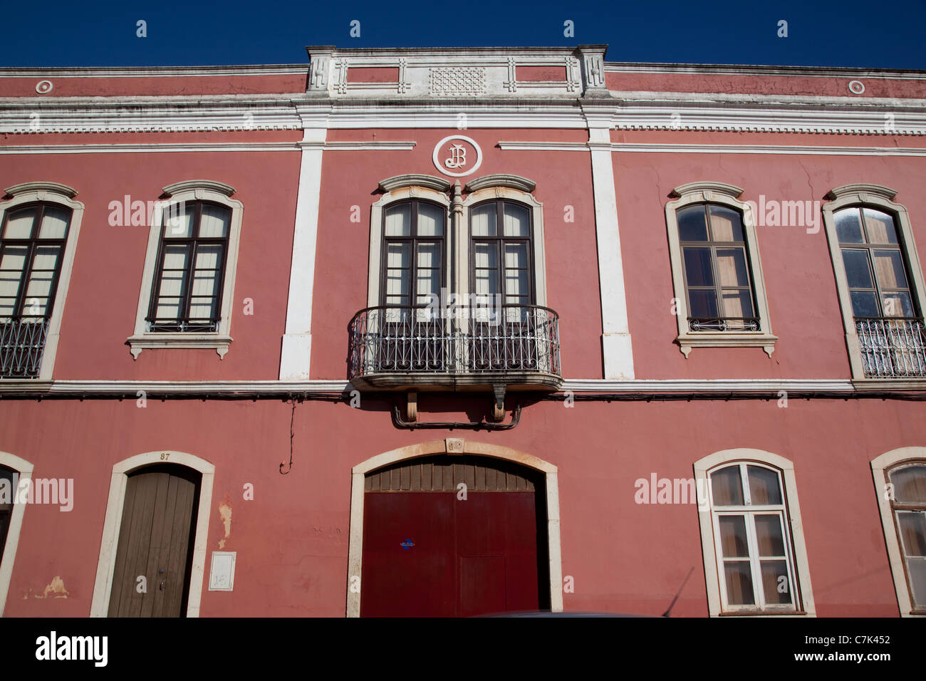 Portugal, Algarve, Silves, Colourful Architecture - Stock Image