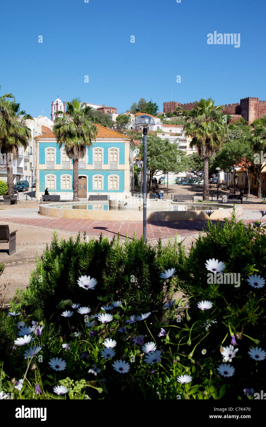 Portugal, Algarve, Silves, Town & Cathedral - Stock Image