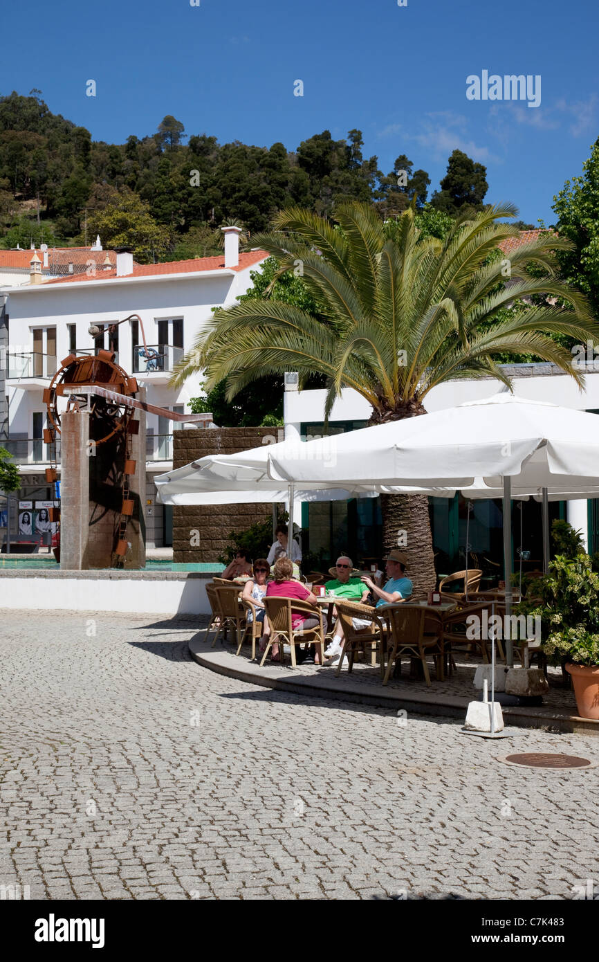 Portugal, Algarve, Monchique, Town Cafe - Stock Image