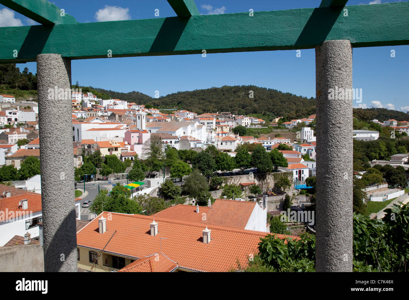 Portugal, Algarve, Monchique, View over Town - Stock Image