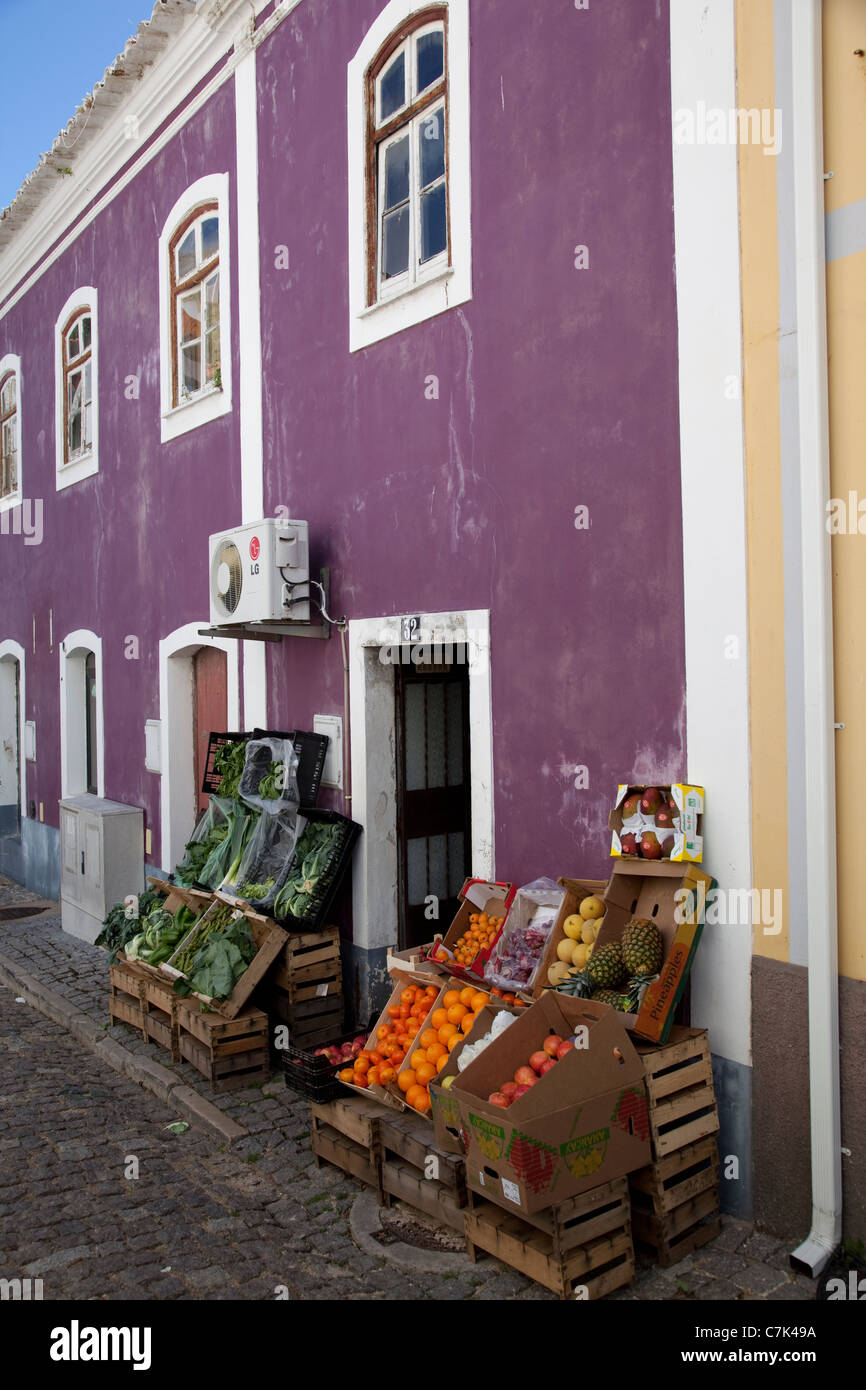 Portugal, Algarve, Monchique, Fruit & Veg Shop - Stock Image