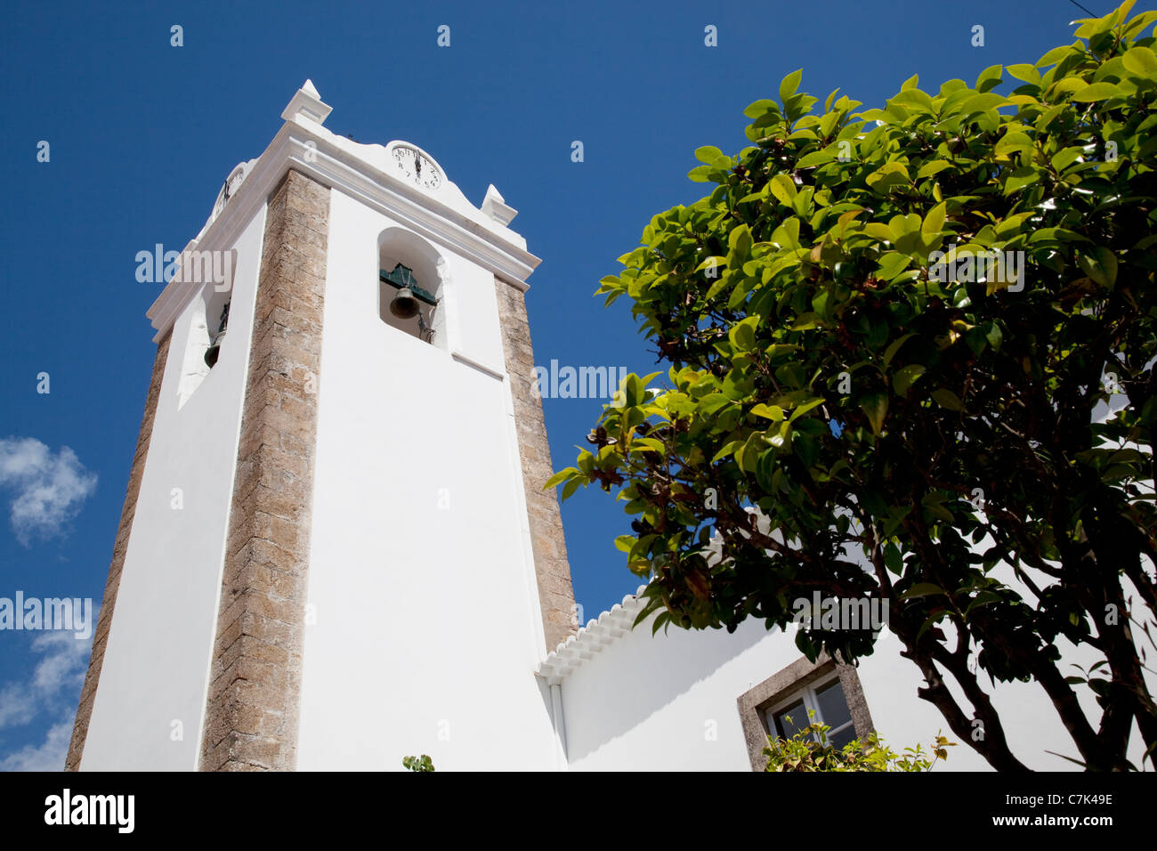 Portugal, Algarve, Monchique, Church Belltower - Stock Image