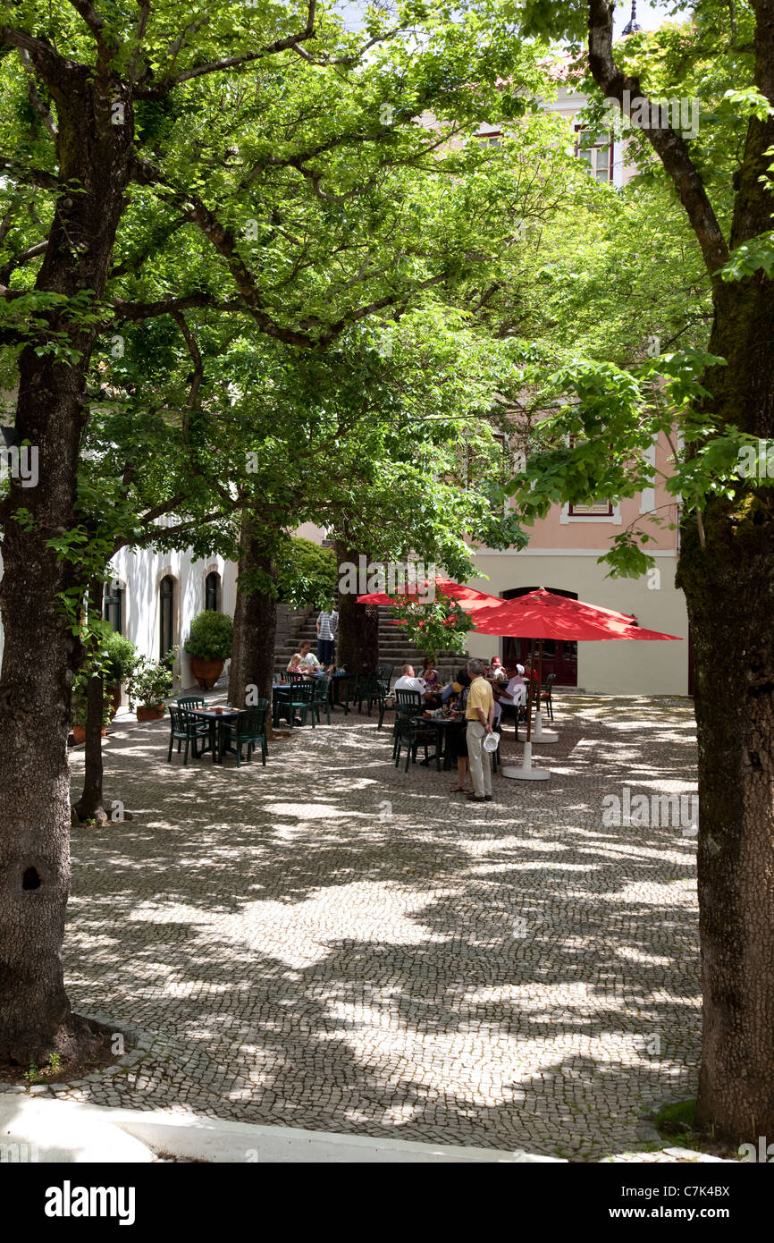 Portugal, Algarve, Caldas De Monchique, Cafe - Stock Image