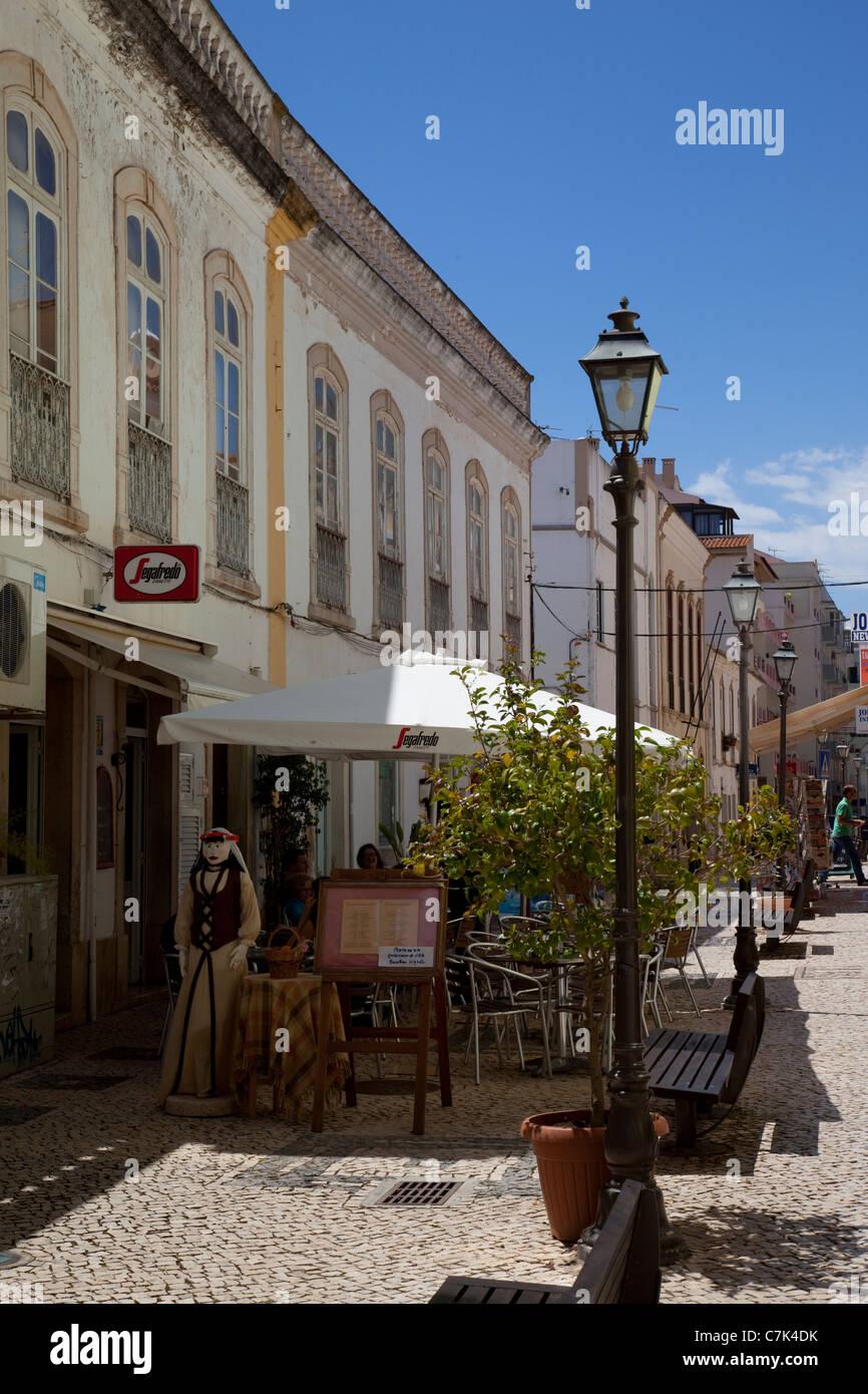 Portugal, Algarve, Silves, Street Scene Stock Photo