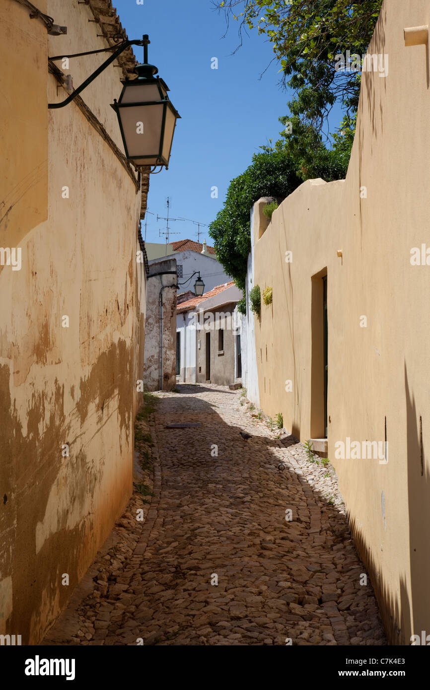 Portugal, Algarve, Silves, Back Street - Stock Image