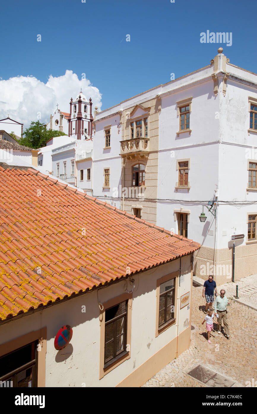 Portugal, Algarve, Silves, Streets & Cathedral - Stock Image