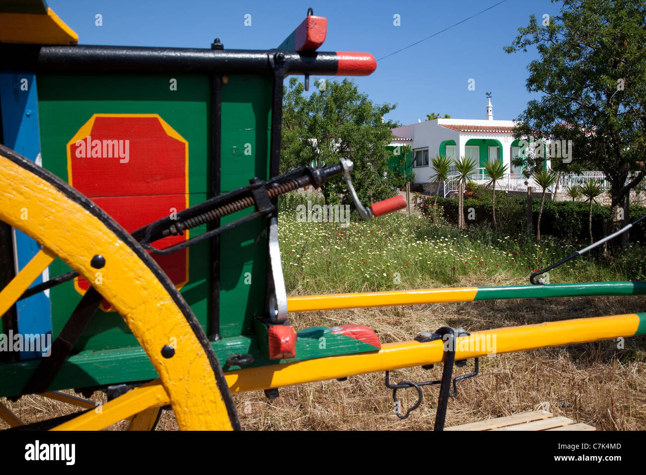 Portugal, Algarve, Near Silves, Colourful Carriage - Stock Image