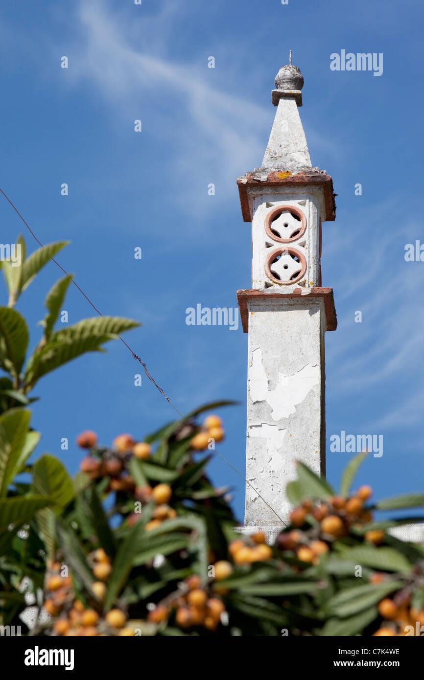 Portugal, Algarve, Alte, Chimney - Stock Image
