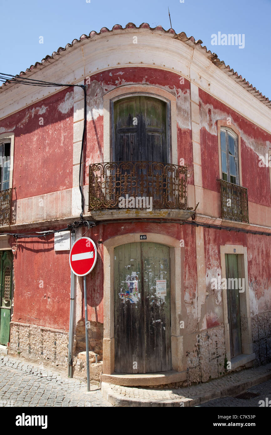 Portugal, Algarve, Pademe, Colourful Architecture - Stock Image