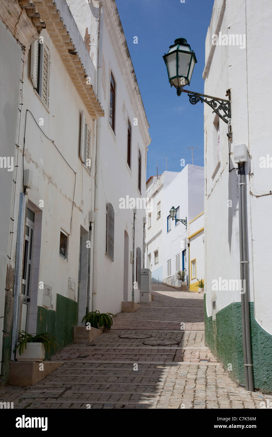 Portugal, Algarve, Albufeira, Backstreet - Stock Image