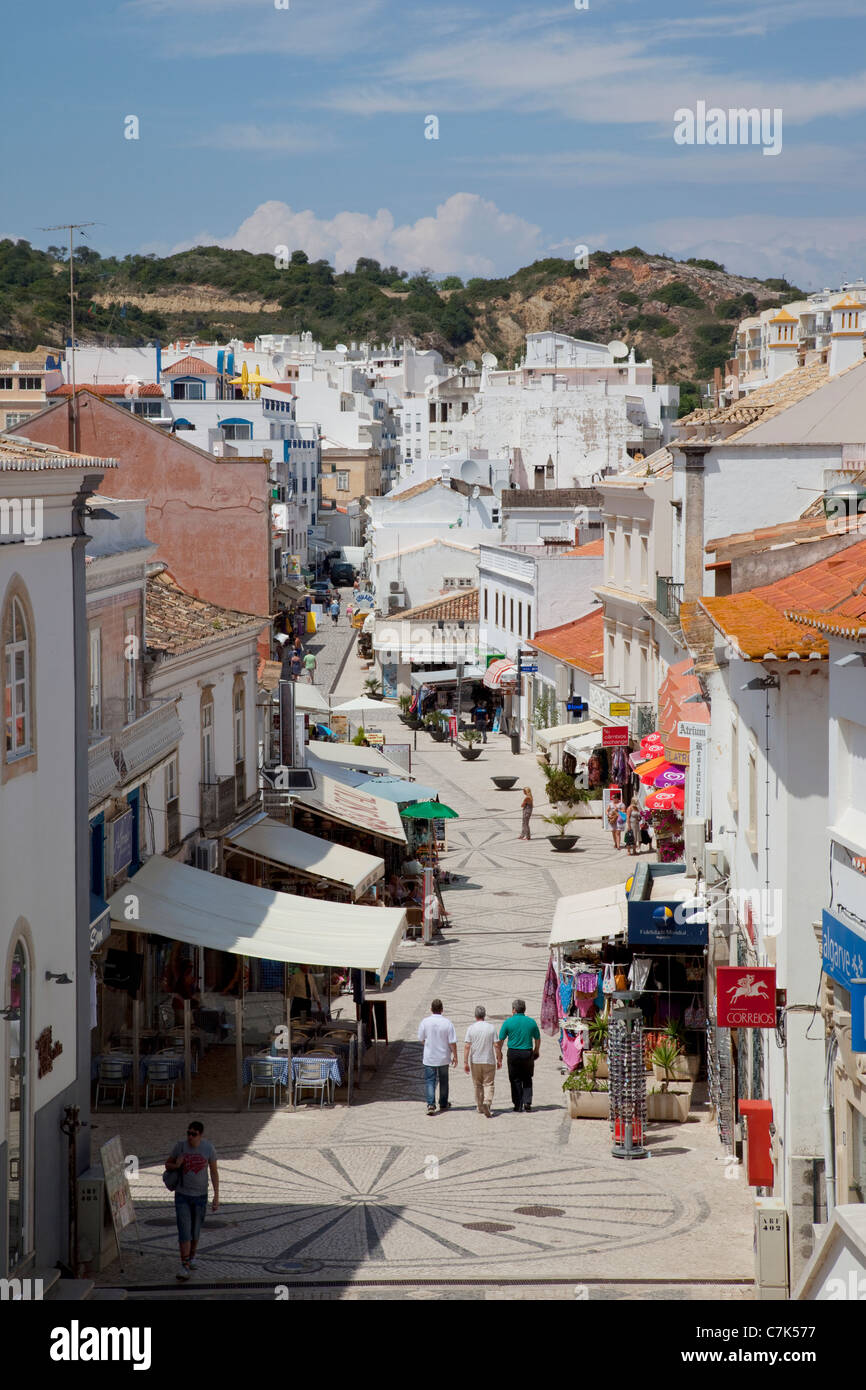 Portugal, Algarve, Albufeira, View over Town - Stock Image