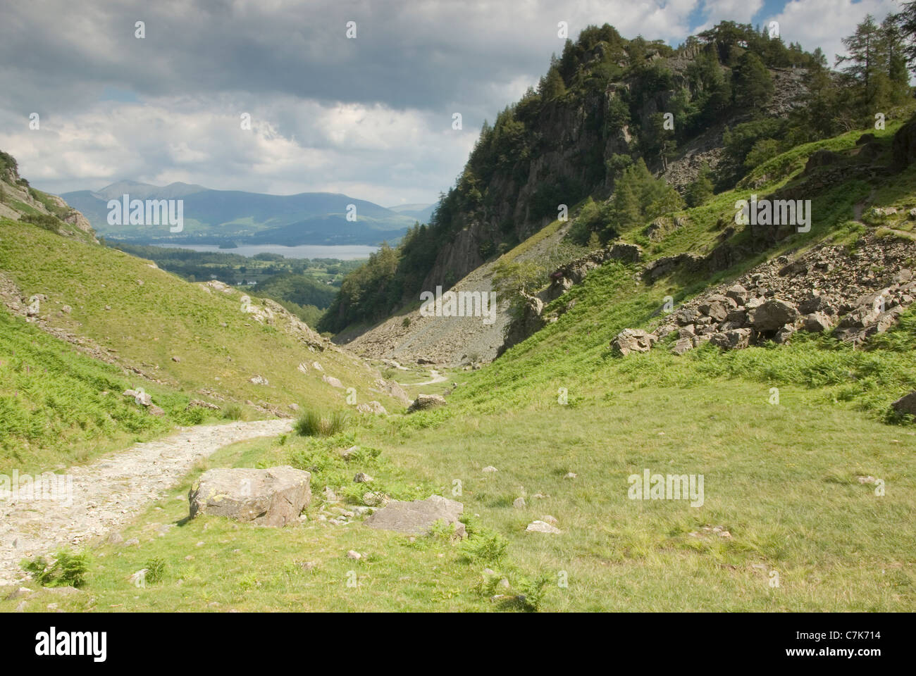 Castle Crag from the Allerdale Ramble, Cumbria, UK - Stock Image