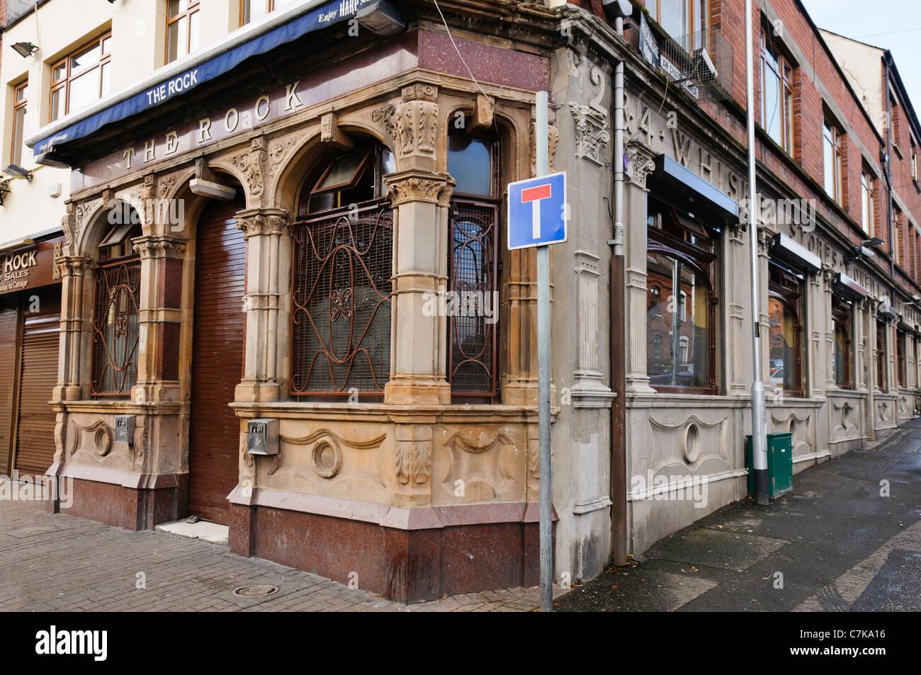 The Rock Bar, Falls Road, Belfast - Stock Image