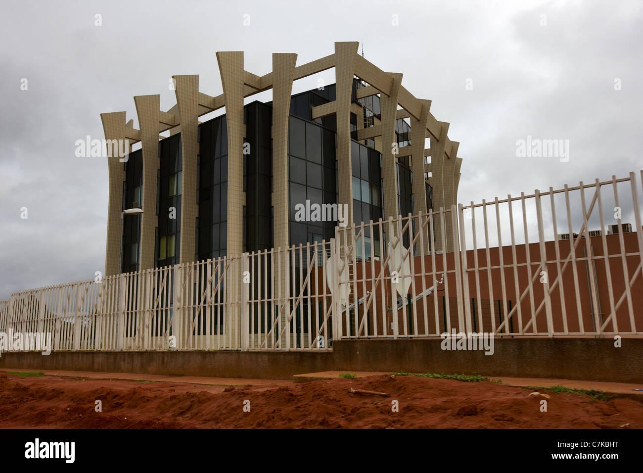 Central African States Bank (Banque des Etats de l'Afrique Centrale), Ouesso, Republic of Congo, Africa - Stock Image