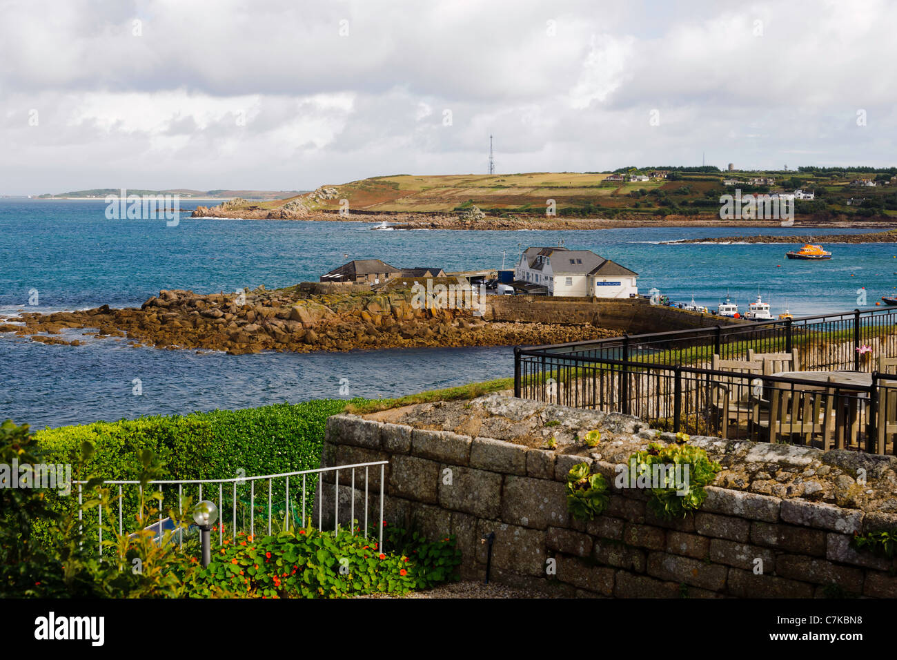 Rat island from The Garrison Hugh Town St Mary's Isles of Scilly UK - Stock Image