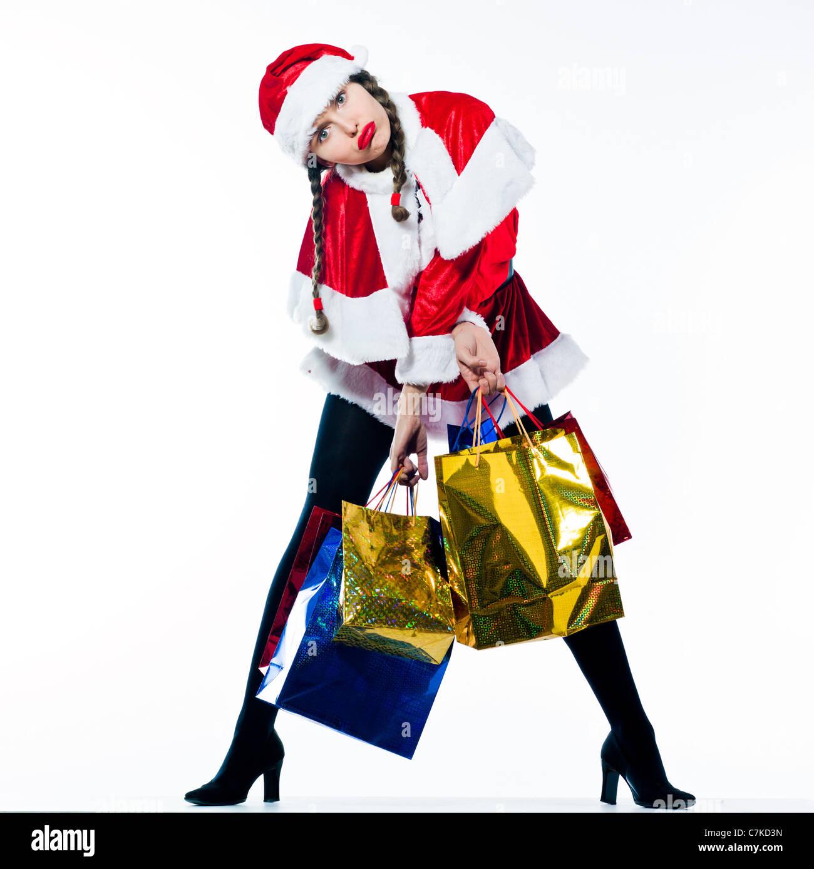 Christmas Shopping Woman Tired Funny Stock Photos & Christmas ...