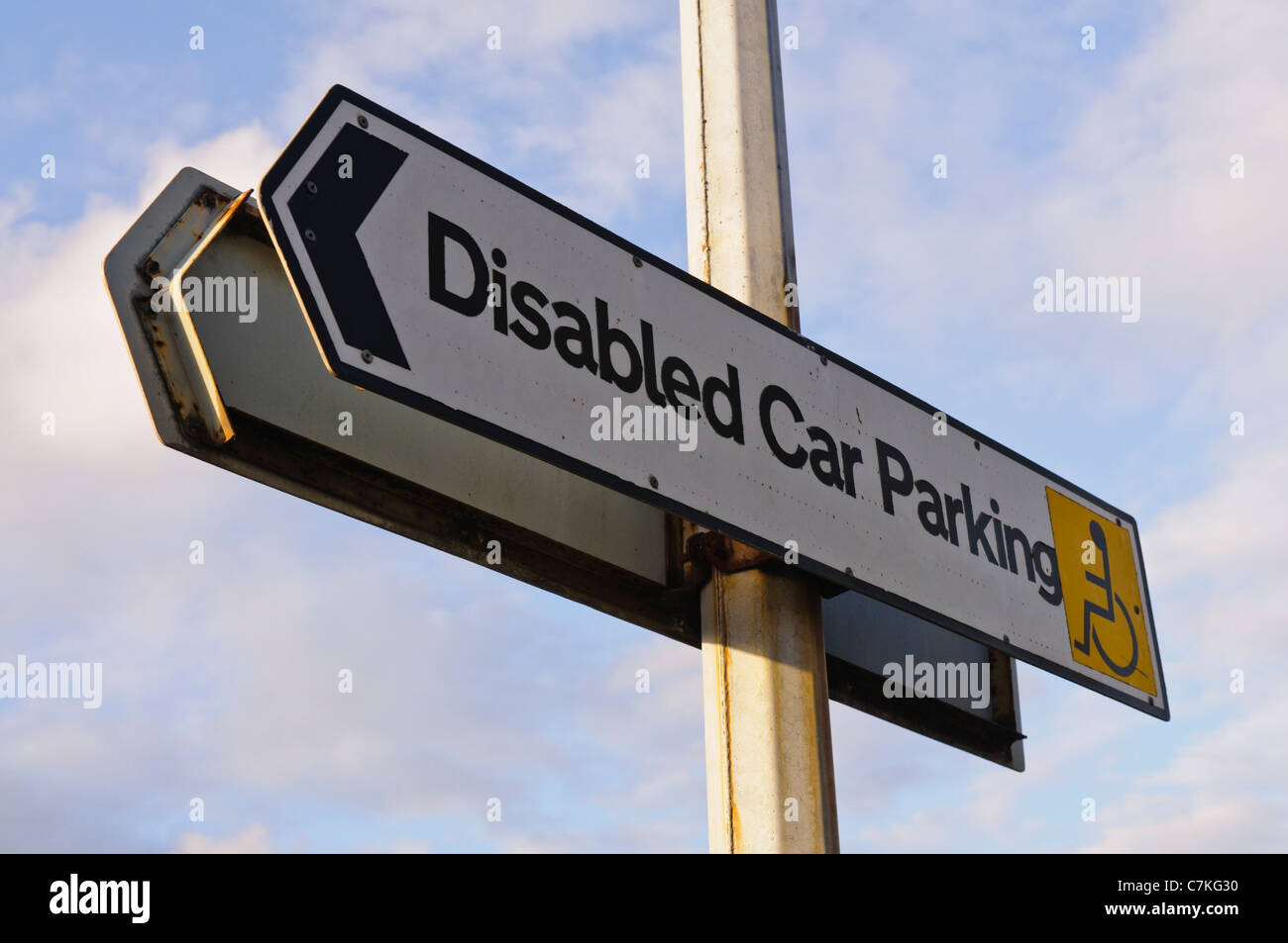 Disabled Car Parking sign - Stock Image