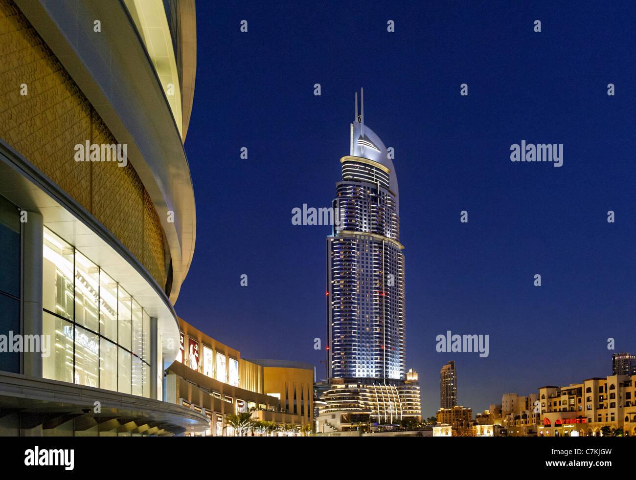 Luxury hotel THE ADDRESS, 63 floors, in Dubai Business Bay, beside Dubai Mall, Downtown Dubai, Dubai, United Arab - Stock Image