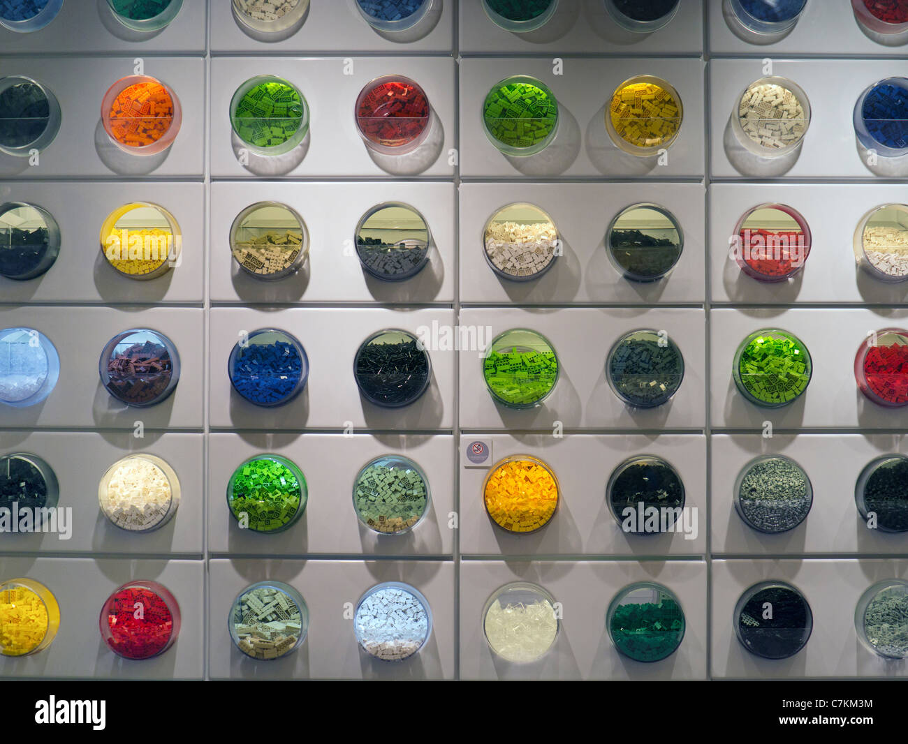 Westfield shopping centre, Shepherd's Bush London- the colours of Lego - Stock Image