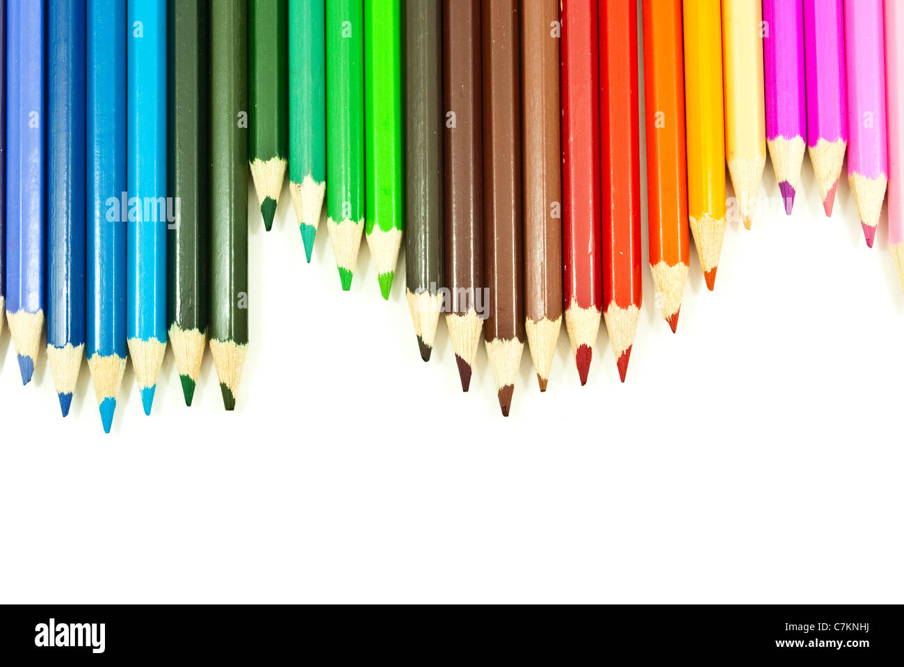 Colorful pencil texture background. Stock Photo