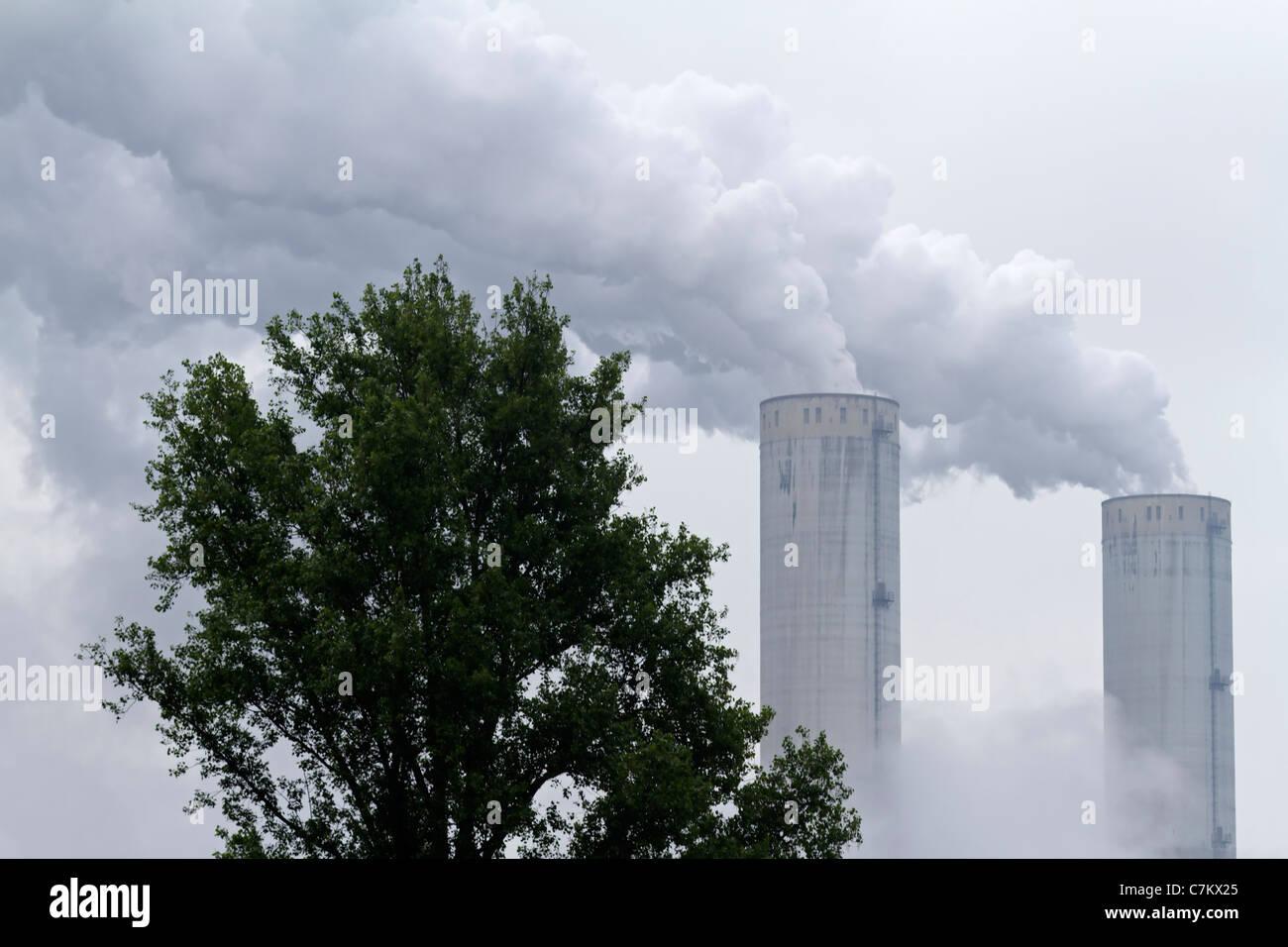 Smoking chimneys - Stock Image