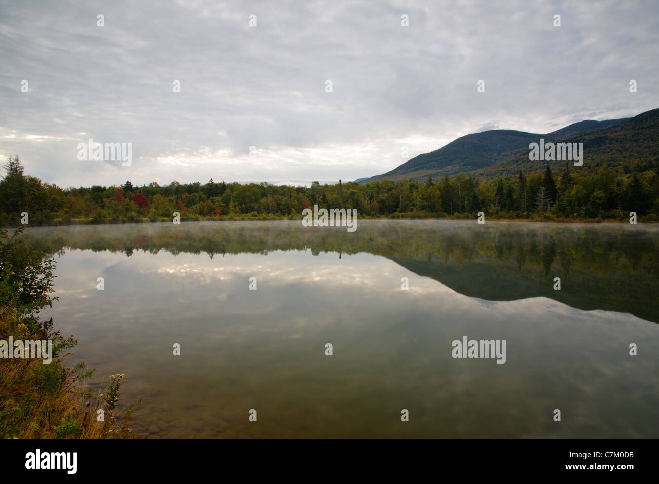 Durand Lake in Randolph, New Hampshire USA during the summer months - Stock Image