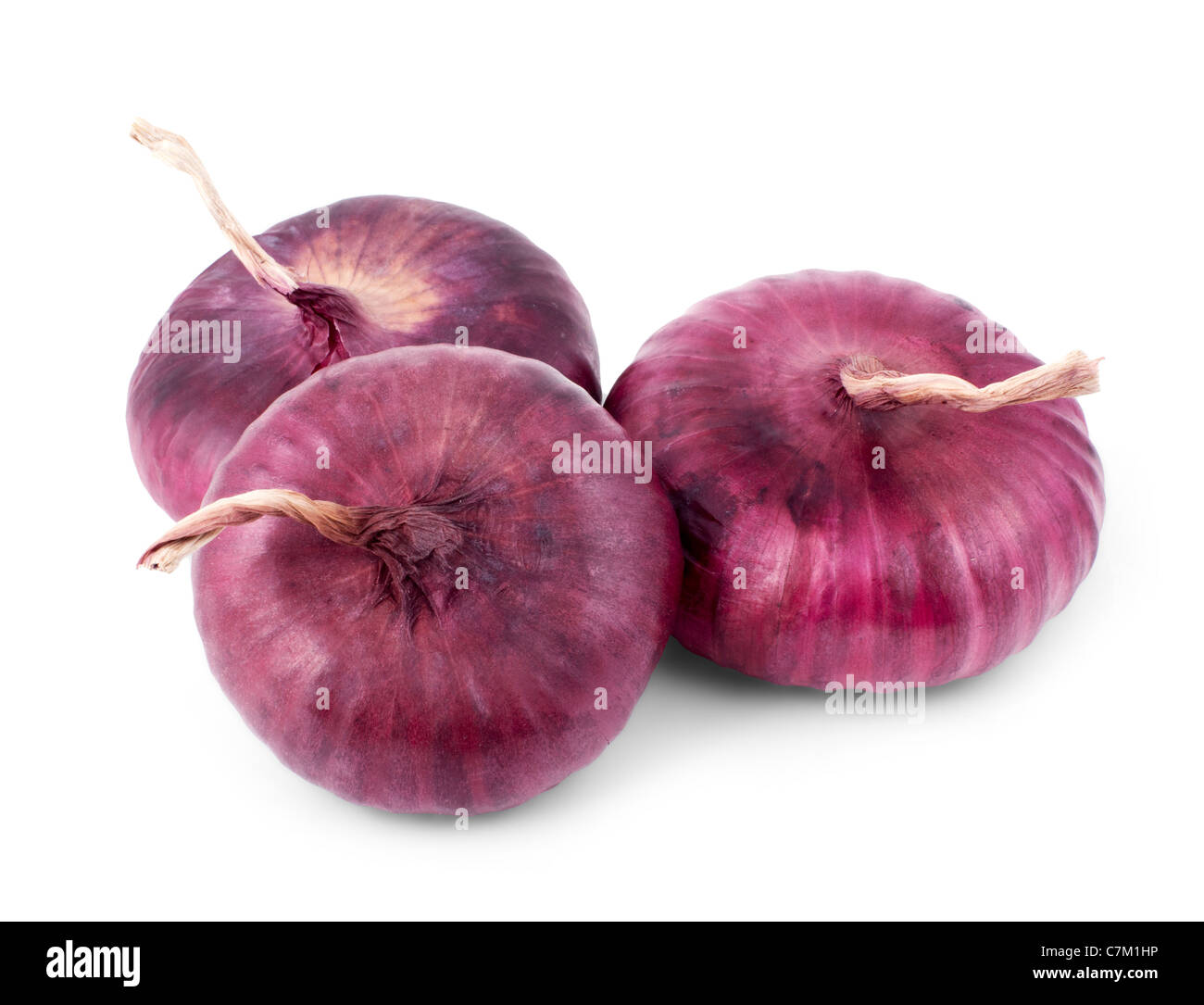 purple onion isolated on a white background - Stock Image