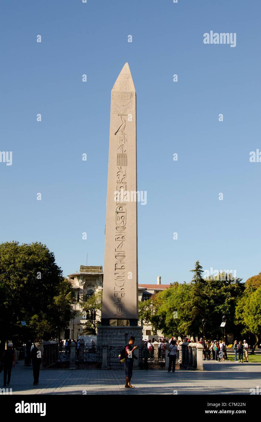 Turkey, Istanbul. The Hippodrome (aka At Meydani). UNESCO. the Obelisk of Pharaoh Thutmose. - Stock Image