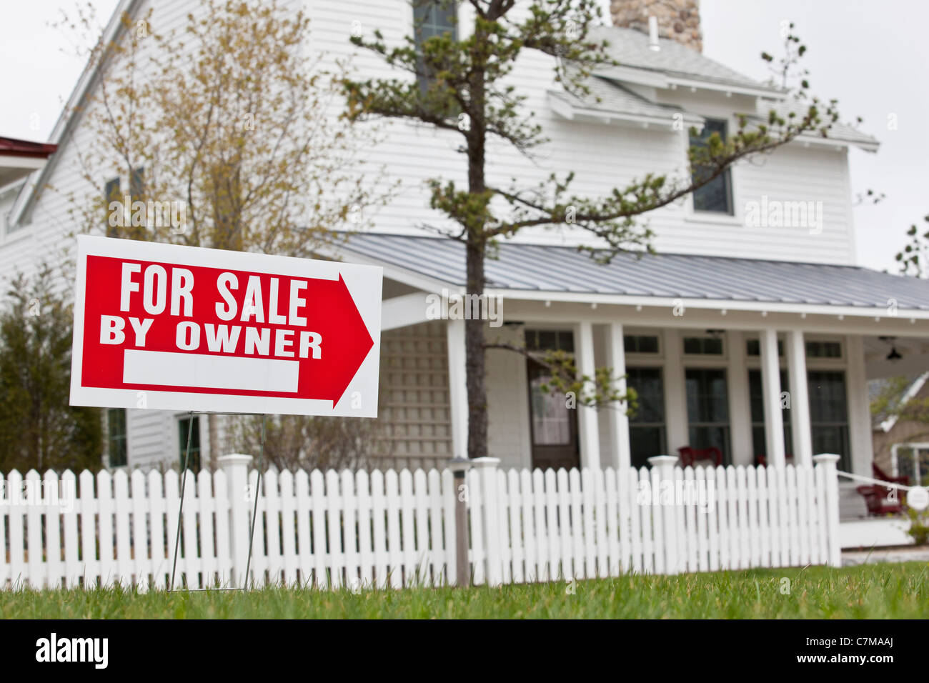 For Sale sign at a Green Technology Home Stock Photo