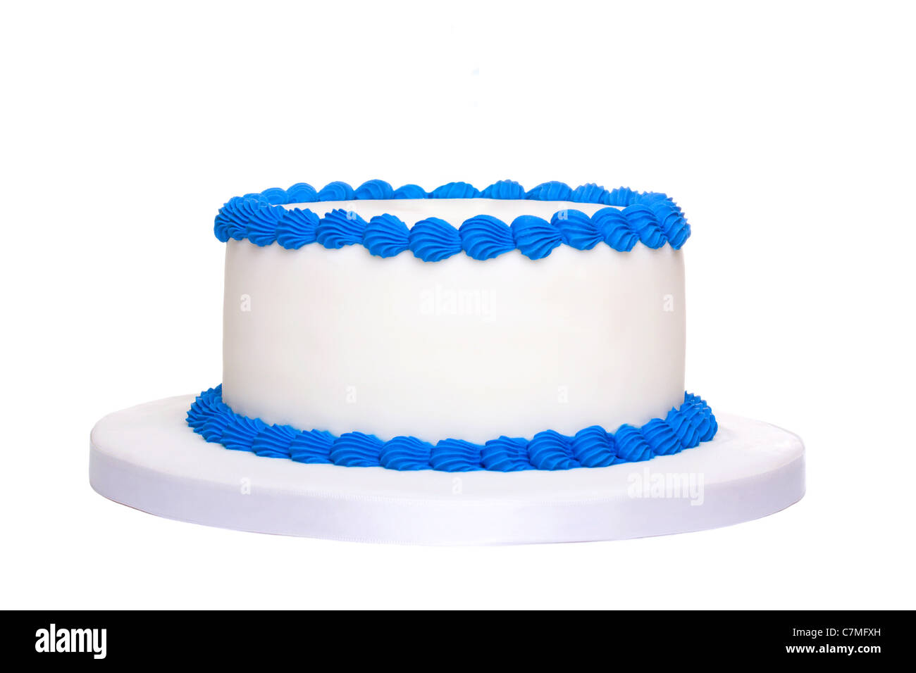 Blank birthday cake Stock Photo: 39174873 - Alamy