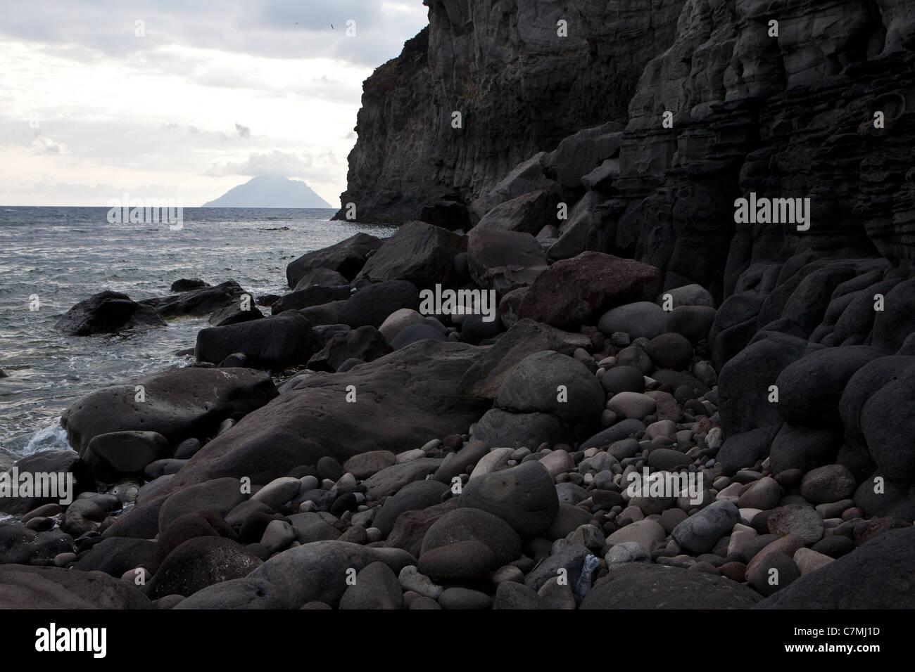 Filicudi Island, the beach Stock Photo