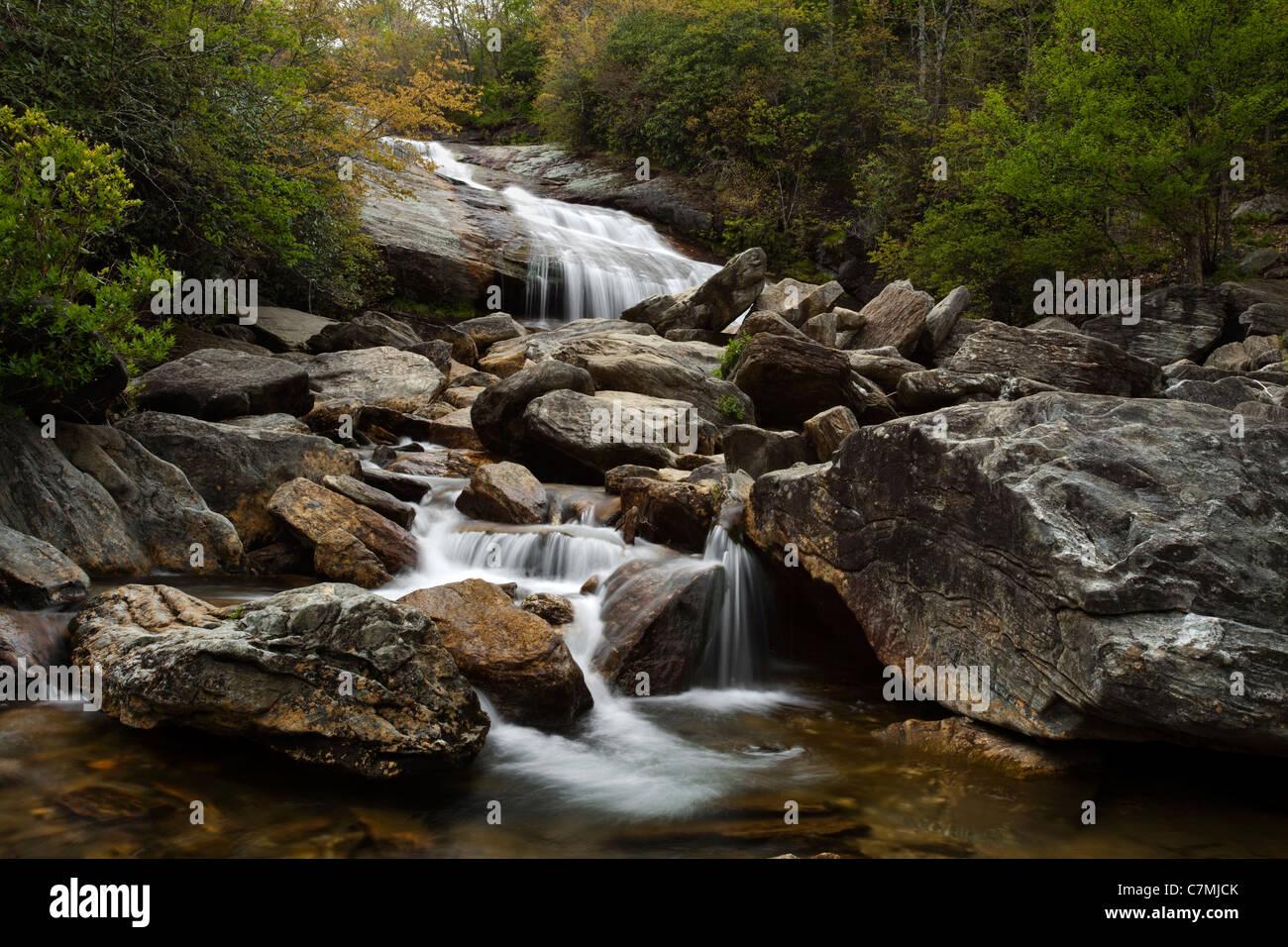 Blue Ridge Waterfall - Stock Image