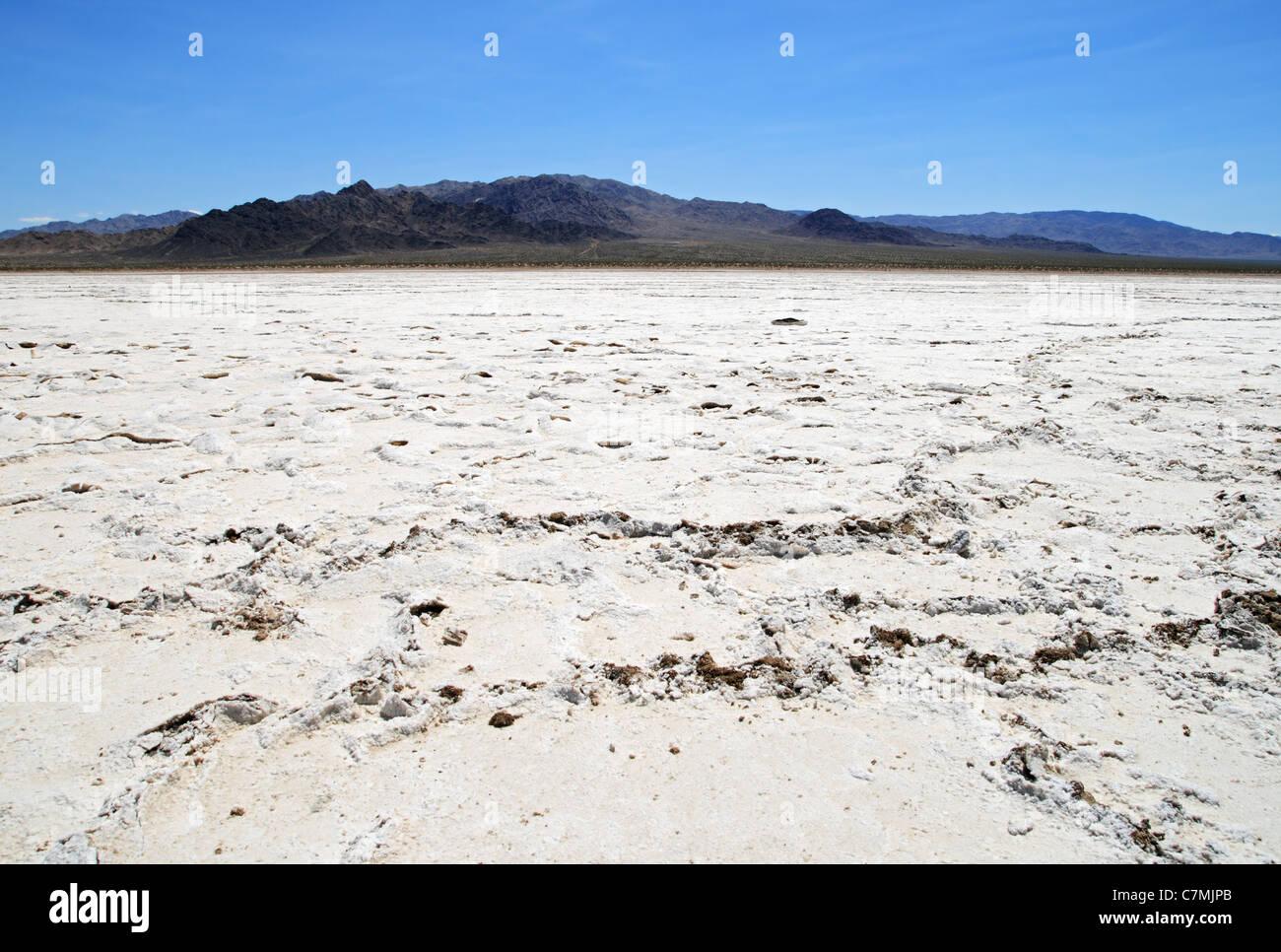 Bristol dry lake bed salt pan in the Mojave Desert of California - Stock Image