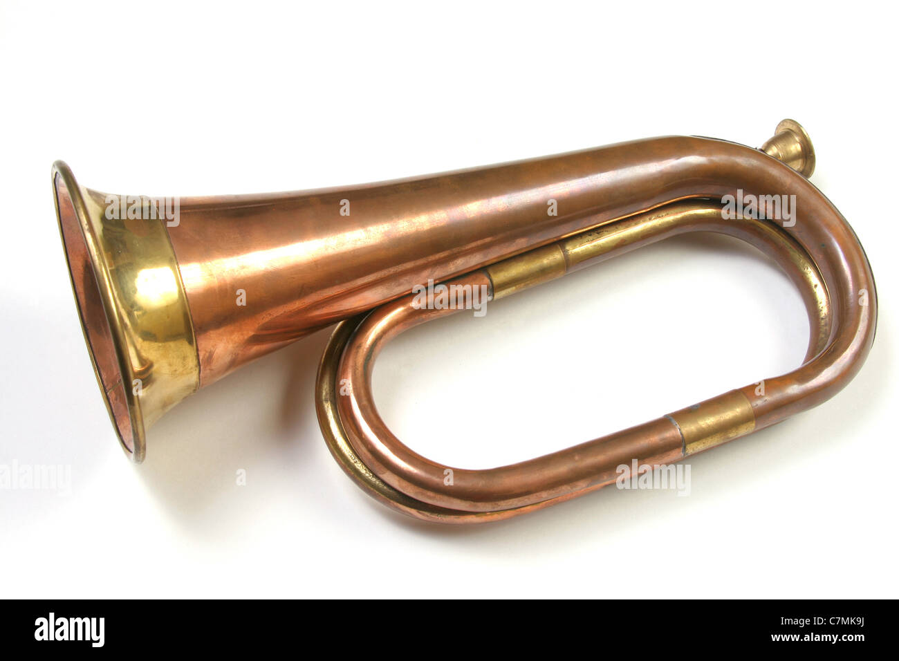 Cornet on a white background. - Stock Image