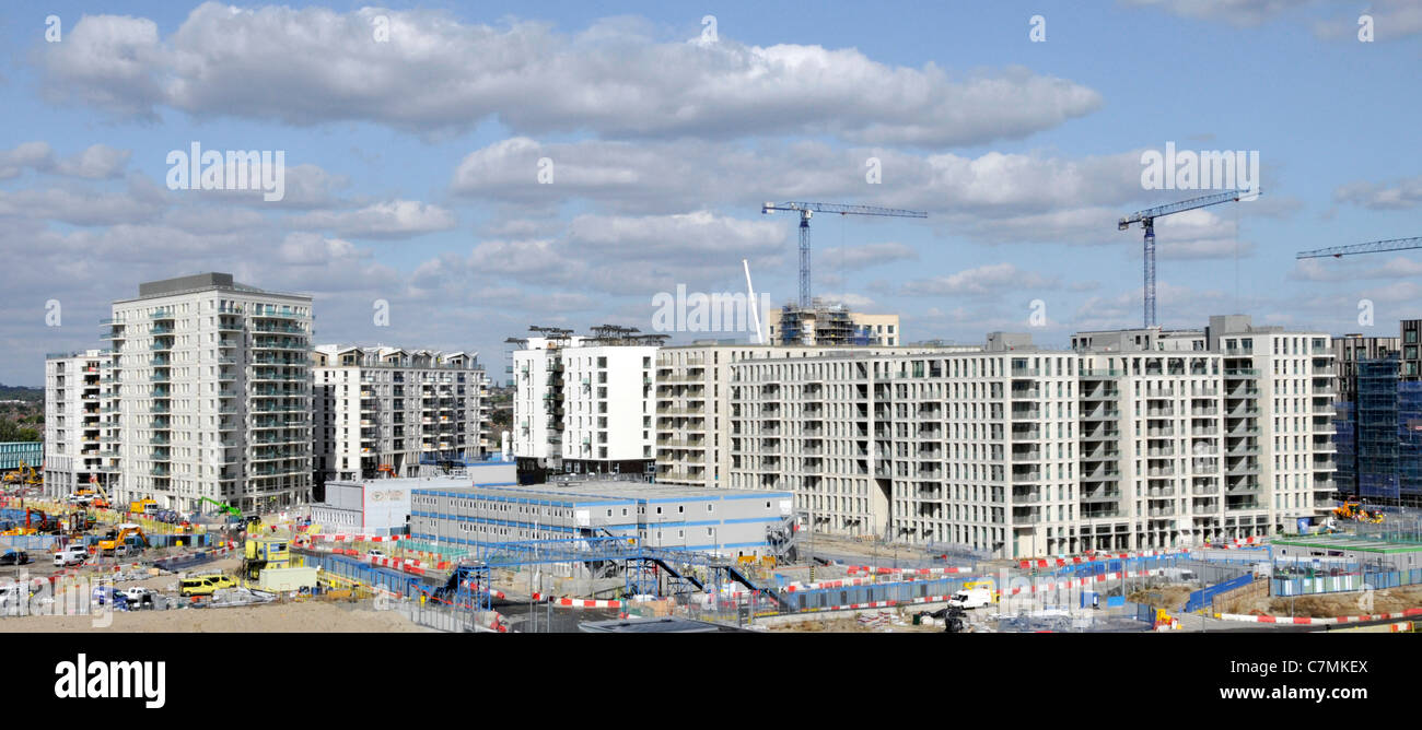 Part of the London 2012 Olympic village construction site - Stock Image