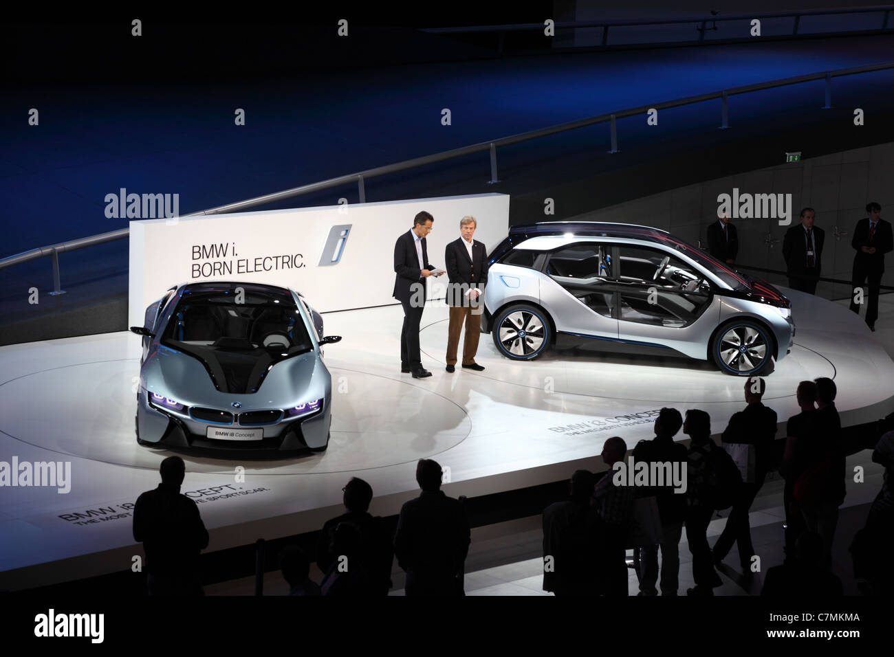 BMW electric concept cars i8 and i3 at the 64th IAA (Internationale Automobil Ausstellung) - Stock Image